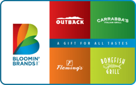 $5 Bloomin  Brands Gift Card