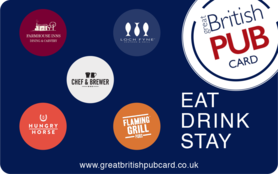 10 GBP The Great British Pub Gift Card