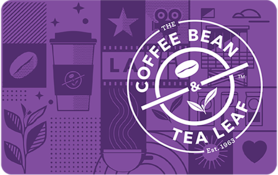 $10 The Coffee Bean & Tea Leaf Gift Card