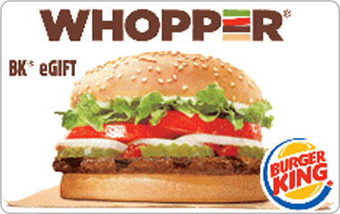 $5 Burger King Gift Card