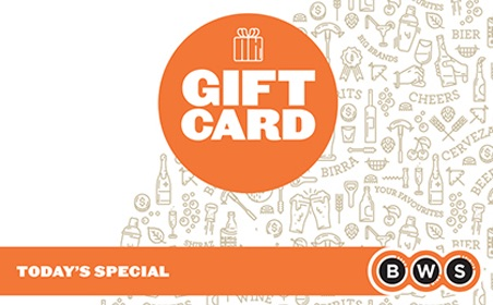 $5 AUD BWS Woolworths Gift Card