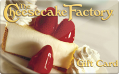$10 Cheesecake Factory Gift Card - emailed