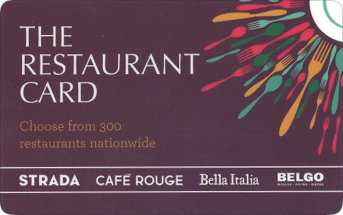 £10 The Restaurant Card UK